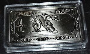 1-Unze-Drachenbarren-aus-Tibetsilber-kein-Feinsilber-Lunar-Drache