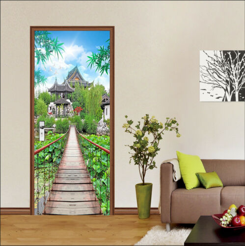 3D Bridge Sky 49 Wall Stickers Vinyl Murals Wall Print Deco AJSTORE UK Kyra