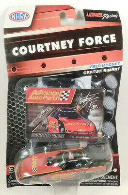 Lionel Racing Courtney Force Car with Magnet NHRA Advance Auto Parts