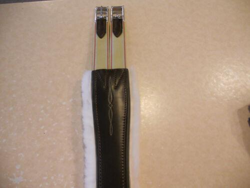 "NEW Edgewood Double Elastic Removable Sheepskin Girth Dark Brown 58/"""