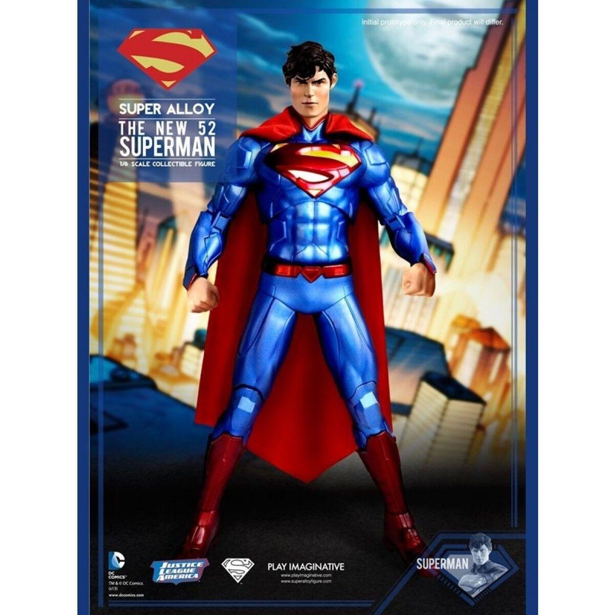 Super Alloy Superman Die-Cast 1/6 Sixth Scale Figure Exclusive Play Imaginitive