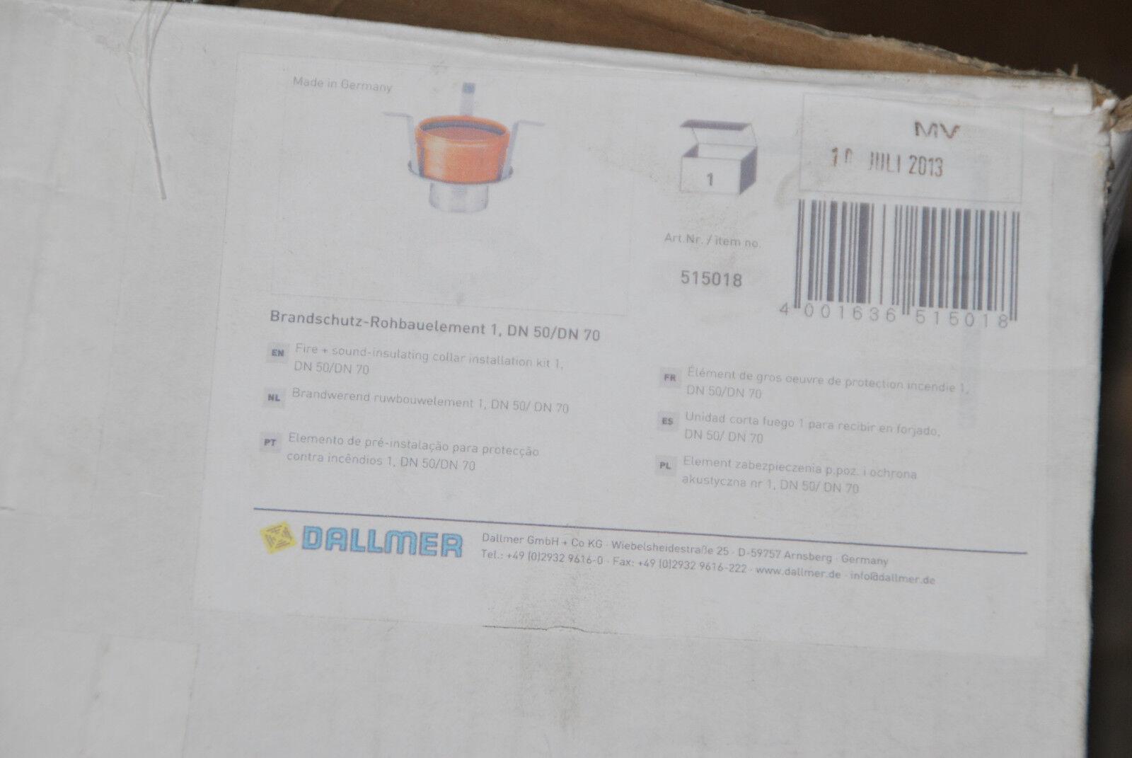 DALLMER 515018 BRANDSCHUTZ ROHBAUELEMENT 1 DN 50 / DN 70 NEU