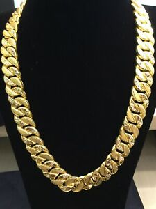 Handmade Dubai Heavy Men S Cuban Link Chain Necklace In 916
