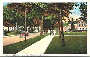 Middletown-New-York-Grove-Street-Thrall-Hospital-Orange-County-1915-Postcard