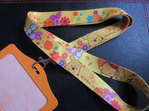 WINNIE THE POOH PIGLET LANYARD NECK STRAP PIN TRADING ID HOLDER CHARM PENDANT