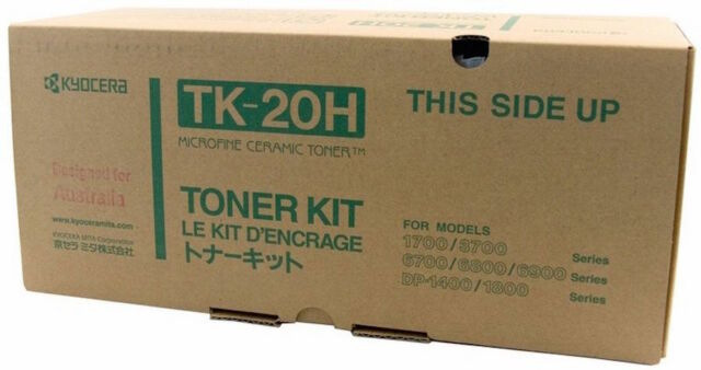 Kyocera TK-20H Black Toner Cartridge Ecosys 177 3700 6700 20K