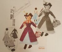 Mary Poppins Doll & Nanny Costume Mccalls 7432 Pattern Out Of Print Reproduction