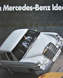 MERCEDES-BENZ-PROSPEKT-POSTER-1969-PAGODE-W113-280SL-PROGRAMM-W100-PULLMAN-250CE