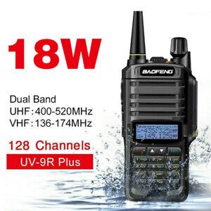 Zwei-Wege-Radio-18W-128CH-VHF-UHF-Dual-Band-Baofeng-UV-9R-Plus-Walkie-Talkie