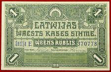 Moneda De Letonia 1 RUBLIS gobierno letón Nota 1919 P 2b