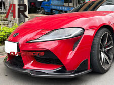 Mx2 Style Carbon Fiber Front Bumper Add On Lip Fit Toyota A90 Supra Only