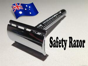 Stainless-Steel-Safety-Razor-and-20-Top-Quality-Blades