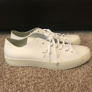 Details about $125 CONVERSE CONS ONE STAR PRIME OX WHITE LEATHER LOW SHOES SZ 11 MENS 154839C