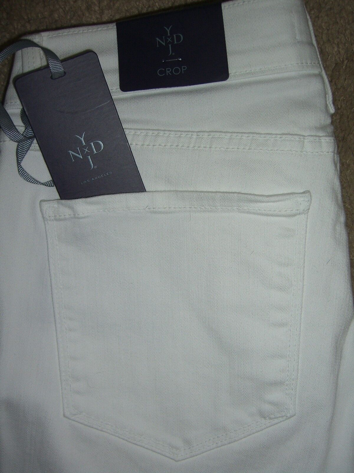 Not Your Daughter's Jeans NYDJ Crop Crystals White Jeans Sizes 0, 2 New  84