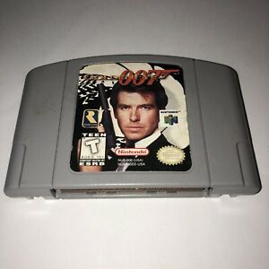 AUTHENTIC-Nintendo-64-N64-Game-007-GOLDENEYE-Super-Fun-4-PLAYER-Tested-SAVES
