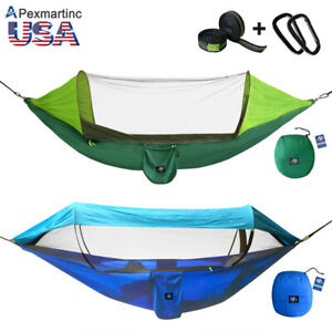 Portable-Tent-Camping-Hammock-Mosquito-Net-Rain-Cover-Waterproof-Windproof-Bed