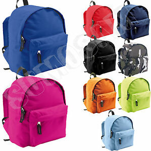 Childrens-Backpack-Junior-Rucksack-Kids-Plain-School-Sports-Bag-or-Nursery-Plain
