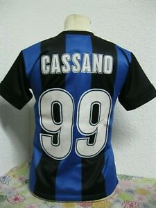 buy popular 9a1b5 82606 Details about Ancien MAILLOT INTER MILAN FOOTBALL CLUB #99 CASSANO TXS  Maglia Jersey Camiseta