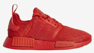 Adidas Nmd R1 Lace Pack Triple Red Womens Running Shoes Fv7308 New
