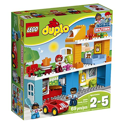 LEGO 10835 DUPLO Town famiglia House Building Set, grande giocattolo mattoni, divertente scuola materna