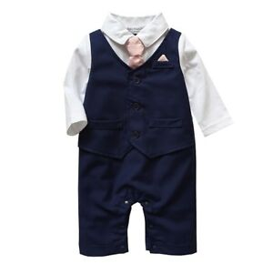 Baby-Boy-Formal-Party-Wedding-Tuxedo-Waistcoat-1pc-Outfit-Suit-in-Three-Colours
