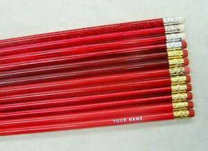 24 shades of red personalized pencils w glitzy ebay