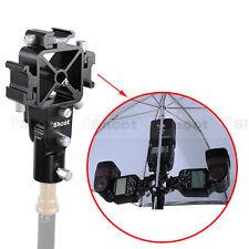 3-Hotshoe Mount Speedlight Bracket f Flash Umbrella Softbox Diffuser/Light Stand