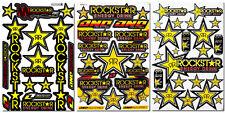 Rockstar Energy Extreme Sport Motocross Helmet ATV MTB BMX Graphic Kits Stickers