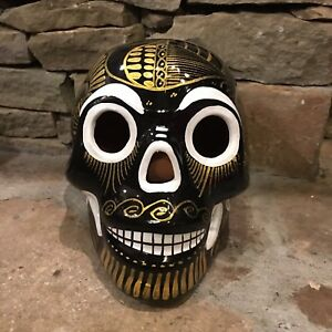 "60a3a578c31a Details about Mexican Pottery Sugar Skull - Dias de los Muertos - Day of  the Dead 6"" Tall"