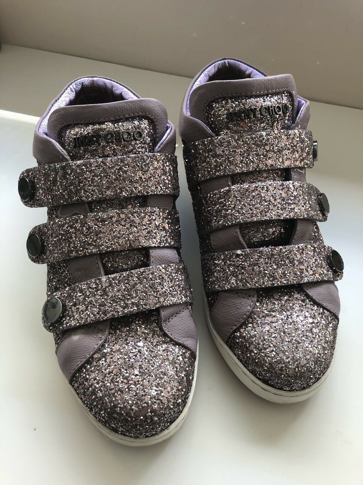 Jimmy choo Glitter Sneakers, purplec Plus Glitter Size 37