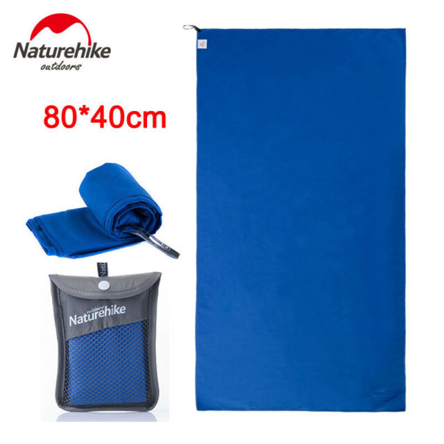 Blue 80*40cm Outdoor Travel Camping Quick Drying Towel Shower Bath Swim Beach