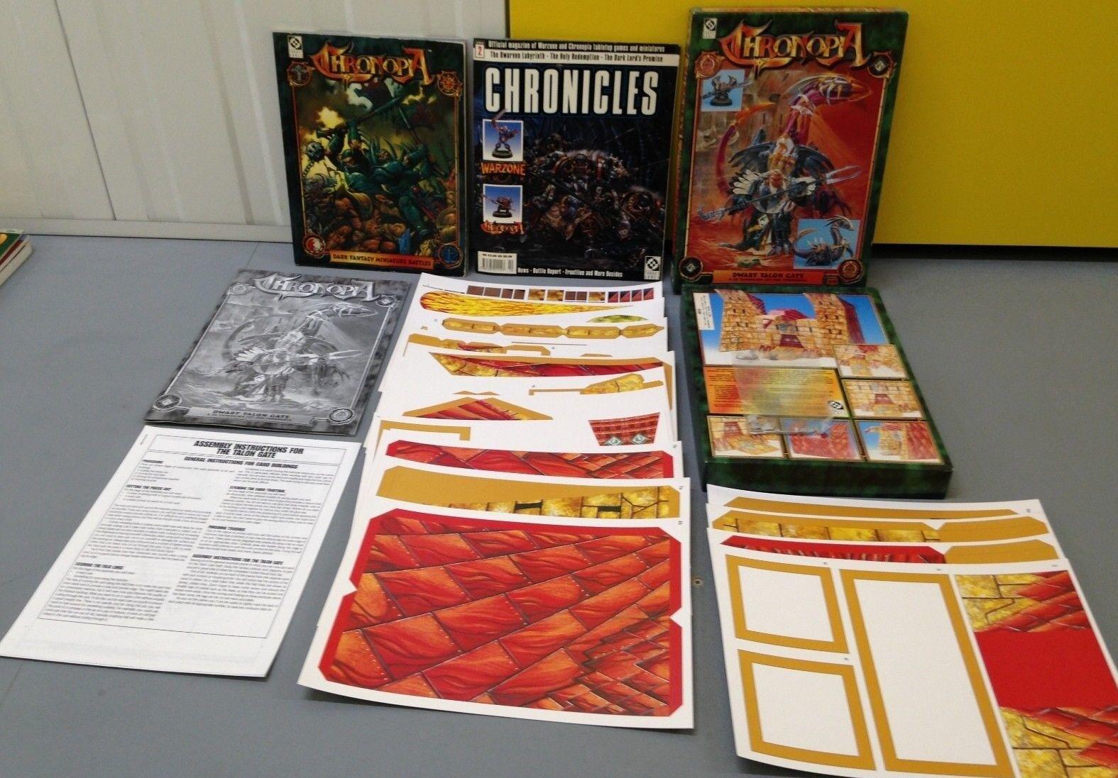 Chronopia - Dwarf Talon Gate Box Set plus Core Rule Book 2201 & Chronicles