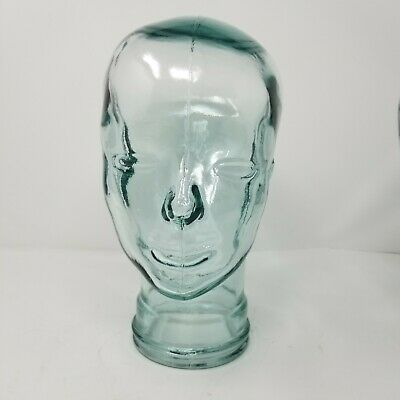 Clear Light Blue Green Tint Mannequin Head Wig Hat Display Brand New