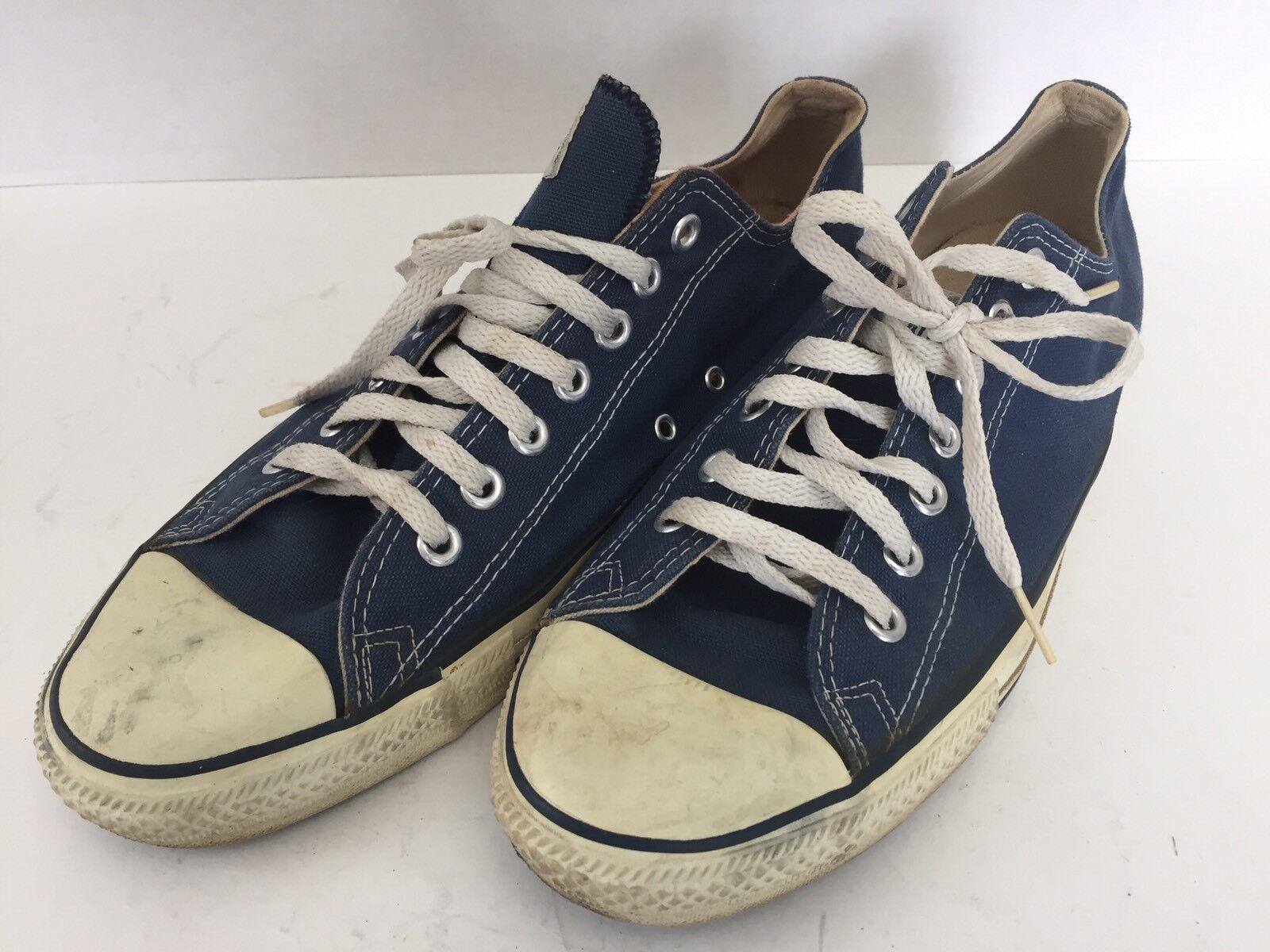 Vintage Converse tutti estrella blu Canvas Low Top sautope da ginnastica Dimensione 11 Chuck Taylor USA Sautope classeiche da uomo
