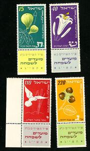 Israel-Stamps-66-9-VF-TABS-OG-NH-Scott-Value-20-00
