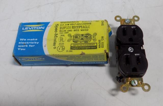 NiB Leviton 5371 2P 3 Wire Flush Receptacle .. EACH