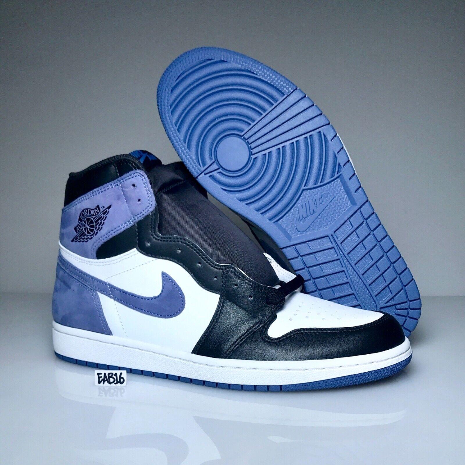 Nike Air Jordan Retro 1 OG bluee Moon 555088 115 White Black Best Hand In Game
