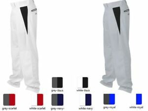 Rawlings ybpvp Youth Blanc//Rouge MEDIUM V-notch Piped Relaxed Fit Baseball Pantalon
