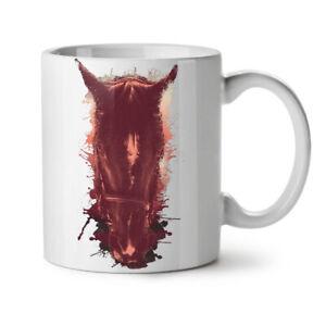 Horse Face Wild Animal NEW White Tea Coffee Mug 11 oz | Wellcoda