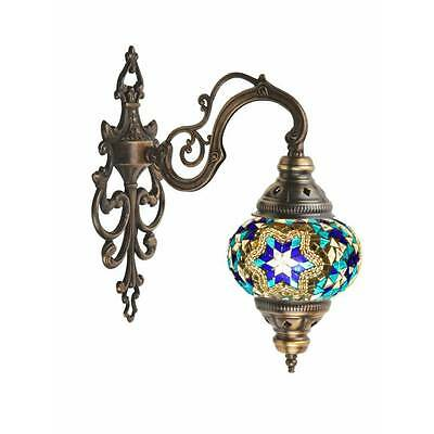 Multicolour Turkish Moroccan Style Mosaic Wall Sconce Light Hand Made AP2011