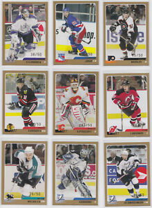 2003-04-Topps-Traded-Gold-50-Choose-From-List-NHL-Hockey-RARE