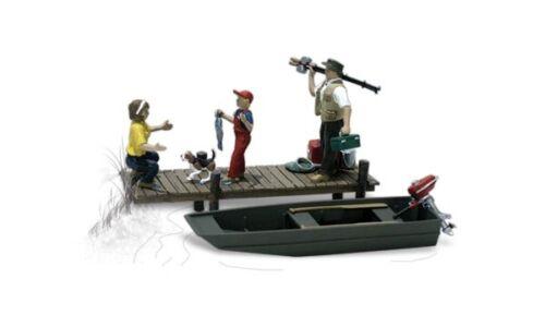 N Woodland Scenics A2203 Figuren-Set Familie angeln neu OVP