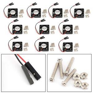 10x-2Pin-30MMx30MM-3007-5-V-Ventilateur-de-refroidissement-rayonnant-pour-Raspberry-Pi-2-3-Modele-B