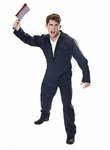 Halloween Michael Myers Costume.Details About Blue Michael Myers Boilersuit Jumpsuit Halloween Fancy Dress Costume Adult S M L