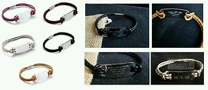 Personalised-Mens-amp-Womens-Genuine-Leather-Tribal-Steal-ID-Bracelet-Gift