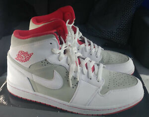 62d26dfcfdb Men's Nike Air Jordan Retro 1 Hare Silver/White/True Red (2009 ...