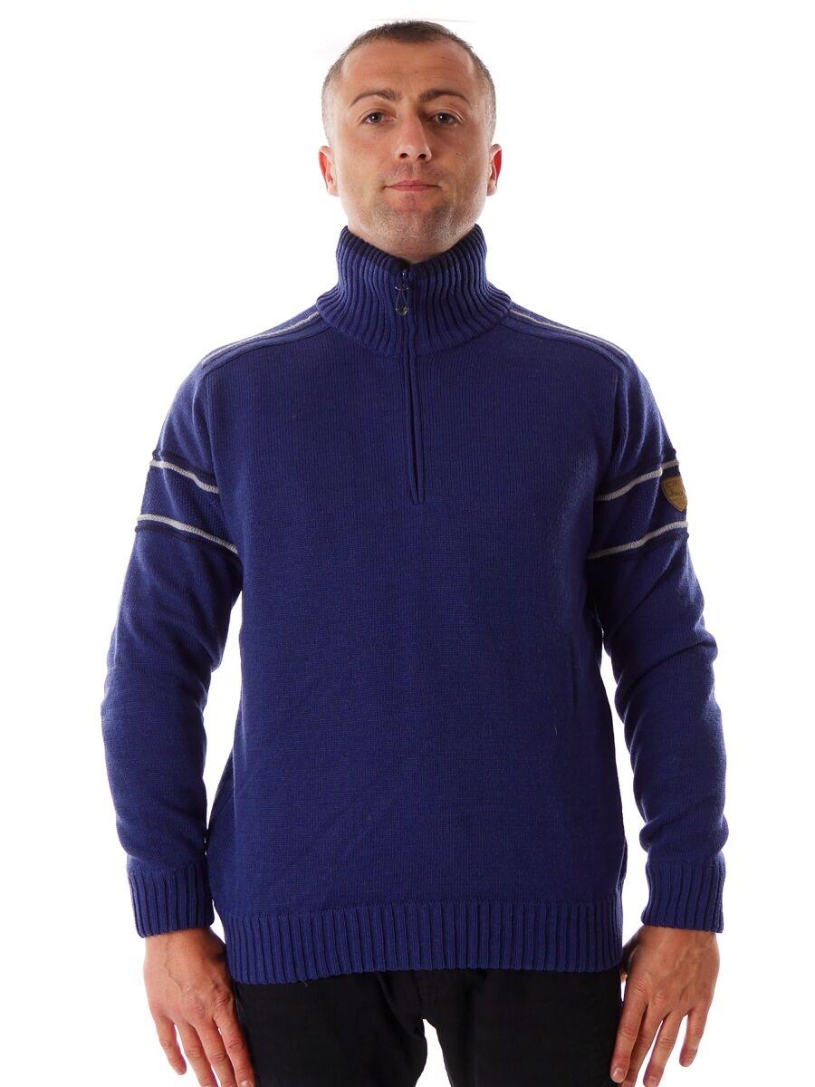 CMP Suéter de Punto Parte Superior de Ocio Kragenpulli blue Teflón Cortaviento