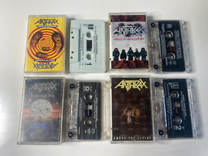 anthrax cassette lot of (4) euphoria living persistence of time killer bs