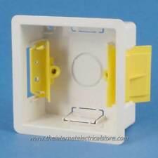 Appleby Blanco sola 1g 35mm seco revestimiento Placa De Yeso pattress Caja posterior sb619