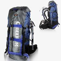 65L Large Internal Frame Backpack Camping Hiking Outdoor Sports Travel Bag